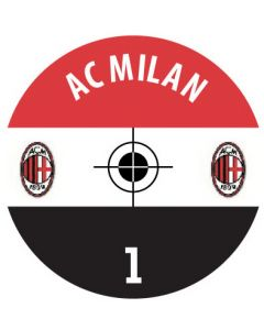 AC MILAN DECALS. (24 base stickers with badge, name & numbers)