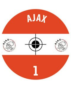 AJAX DECALS. (24 base stickers with badge, name and numbers)