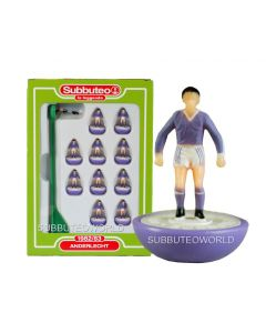 ANDERLECHT. Retro Subbuteo Team. Modelled on the LW Figure & Bases From the 1980's.