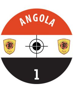 ANGOLA DECALS. (24 base stickers with badge, name & numbers)