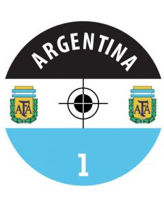 ARGENTINA DECALS. (24 base stickers with badge, name & numbers)