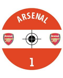 ARSENAL DECALS (24 base stickers with badge, name & numbers)