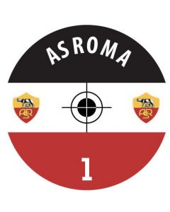 AS ROMA DECALS. (24 base stickers with badge, name & numbers)
