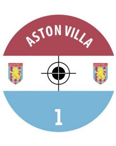 ASTON VILLA DECALS. (24 base stickers with badge, name & numbers)