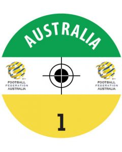 AUSTRALIA DECALS. (24 base stickers with badge, name & numbers)