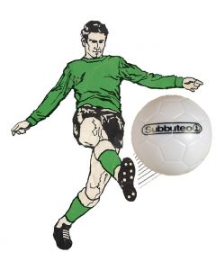 001. ONE SPARE 22mm WHITE SUBBUTEO BALL. PAUL LAMOND.