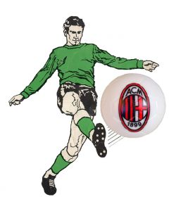 01. ONE SPARE 22mm AC MILAN SUBBUTEO BALL IN WHITE.