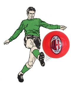 01. ONE SPARE 22mm AC MILAN SUBBUTEO BALL IN RED.