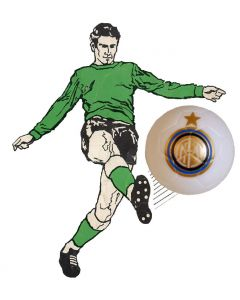 01. ONE SPARE 22mm INTER MILAN SUBBUTEO BALL IN WHITE.
