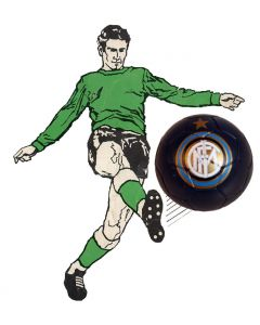 01. ONE SPARE 22mm INTER MILAN SUBBUTEO BALL IN BLACK.