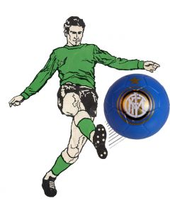 01. ONE SPARE 22mm INTER MILAN SUBBUTEO BALL IN BLUE.