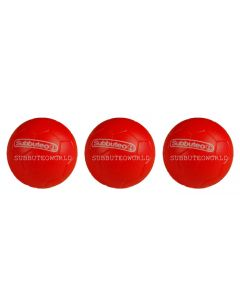 001. THREE 22mm RED SUBBUTEO BALLS. PAUL LAMOND. PACK OF 3