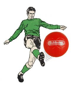 001. ONE SPARE 22mm RED SUBBUTEO BALL. PAUL LAMOND.