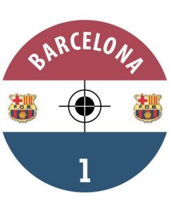 BARCELONA DECALS. (24 base stickers with badge, name & numbers)