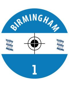 BIRMINGHAM DECALS. (24 base stickers with badge, name & numbers)