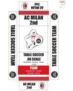 AC MILAN 2ND. self adhesive team box labels.