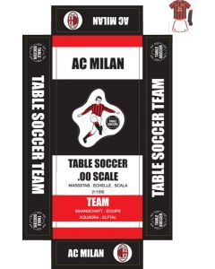 AC MILAN 1ST - WHITE SHORTS. self adhesive team box labels.