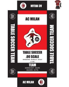 AC MILAN 1ST - BLACK SHORTS. self adhesive team box labels.