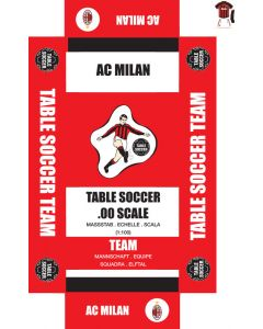 AC MILAN 1ST - WHITE SHORTS. self adhesive team box labels. UPDATED.