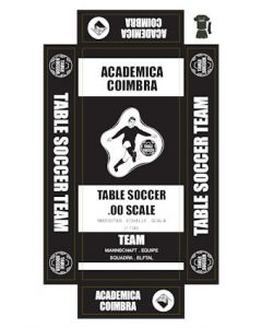 ACADEMICA COIMBRA. self adhesive team box labels.