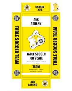 AEK ATHENS. self adhesive team box labels.