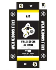 AIK. self adhesive team box labels.