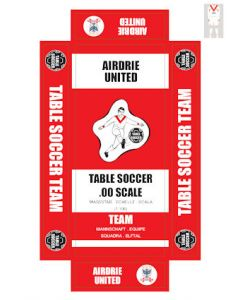 AIRDRIE UTD. self adhesive team box labels.