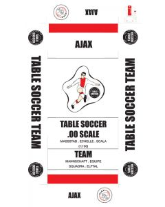 AJAX. self adhesive team box labels.