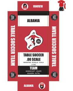 ALBANIA. Self adhesive team box labels.