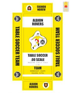 ALBION ROVERS. self adhesive team box labels.