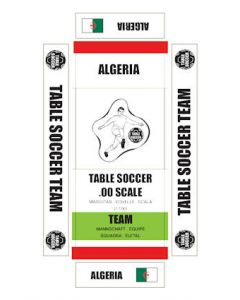 ALGERIA. self adhesive team box labels.