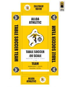 ALLOA ATHLETIC. self adhesive team box labels.