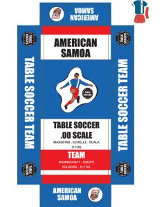 AMERICAN SAMOA. self adhesive team box labels.