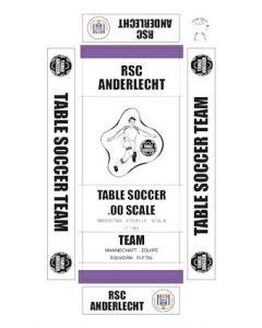 ANDERLECHT. self adhesive team box labels.