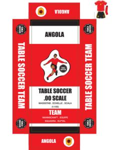 ANGOLA. Self adhesive team box labels.