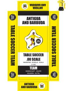 ANTIGUA & BARBUDA. Self adhesive team box labels.