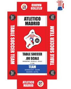 ATLETICO MADRID. self adhesive team box labels. UPDATED.