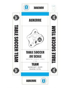 AUXERRE. self adhesive team box labels.