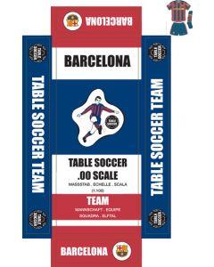 BARCELONA 1ST - BLUE SHORTS. self adhesive team box labels.