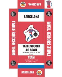 BARCELONA 1ST - RED SHORTS. self adhesive team box labels.