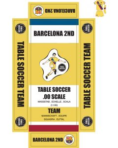 BARCELONA 2ND. self adhesive team box labels.