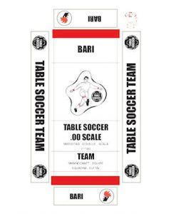 BARI. self adhesive team box labels.