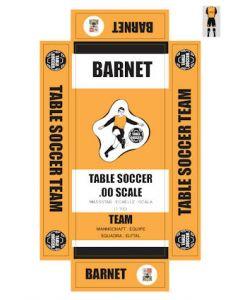 BARNET. self adhesive team box labels.