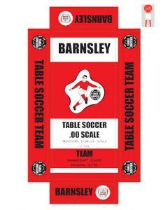 BARNSLEY. self adhesive team box labels.