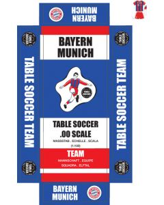 BAYERN MUNICH. self adhesive team box labels. UPDATED.