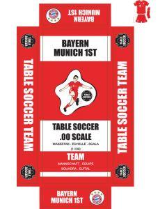 BAYERN MUNICH 1ST (RED KIT). self adhesive team box labels.