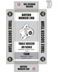 BAYERN MUNICH 2ND. self adhesive team box labels.