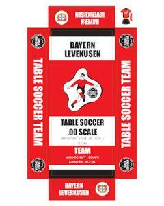 BAYERN LEVERKUSEN. self adhesive team box labels.