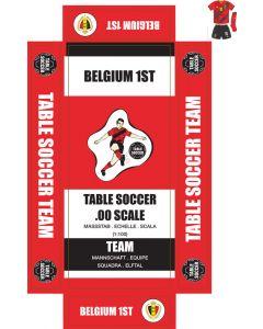 BELGIUM 1ST. self adhesive team box labels.