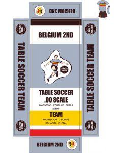 BELGIUM 2ND. self adhesive team box labels.